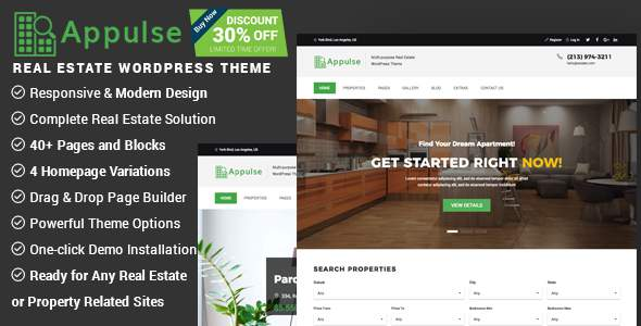 Appulse - Real Estate WordPress Theme            TFx Jo Schuyler