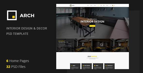 Arch Decor - Interior Design, Architecture and Building Business PSD Template            TFx Prince Ichirou