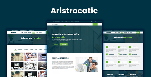 Aristocratic - Multi Purpose Business HTML5 Template            TFx Hakob Jimmie