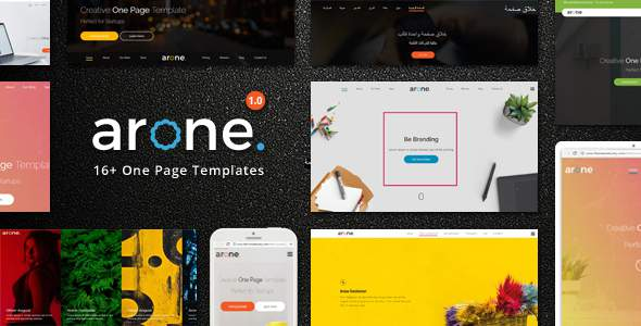 Arone – One Page Parallax            TFx Everette Callahan