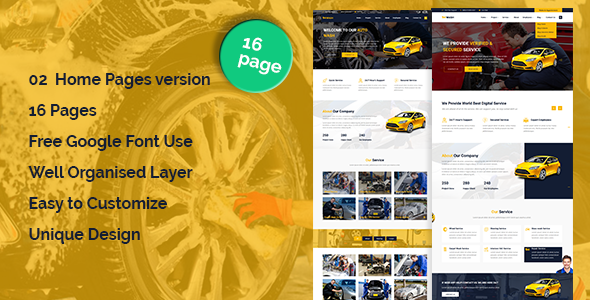 AutoWash - Car Wash & Car Repair HTML5 Responsive Template            TFx Lynwood Todd