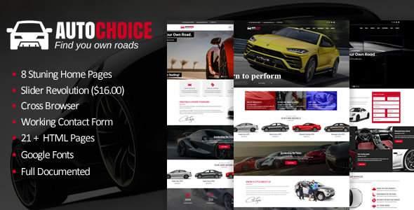 Autochoice - Responsive Premium Car & Dealer HTML Template            TFx London Raja