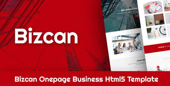 BIZCAN Onepage Business HTML5 Template            TFx Alfred Chet