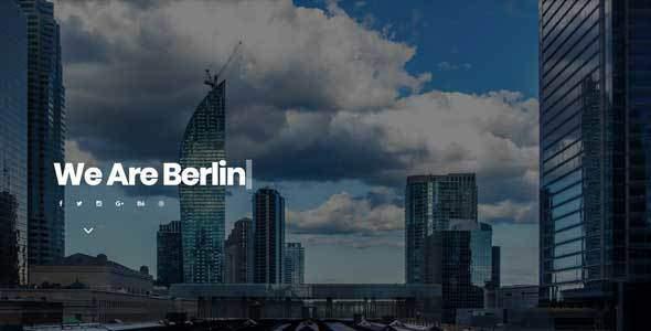 Berlin - Portfolio Template            TFx Geoffrey Coleman
