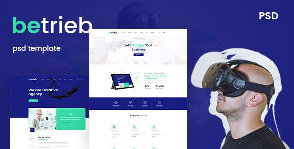 Betrieb- Creative business PSD Template            TFx Ely Forrest