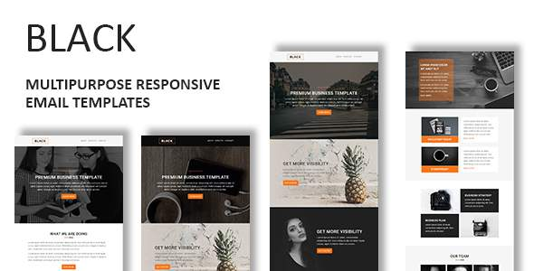 Black - Multipurpose Responsive Email Template With Online StampReady Builder Access            TFx Winthrop Conrad