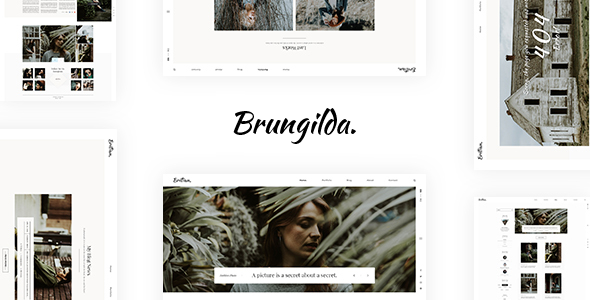 Brungilda - Photography WordPress theme            TFx Naoki Khazhak