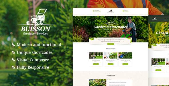 Buisson | Gardening WordPress Theme            TFx Pat Zack