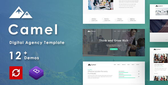 Camel - Business/Digital Agency Creative Template            TFx Les Garfield