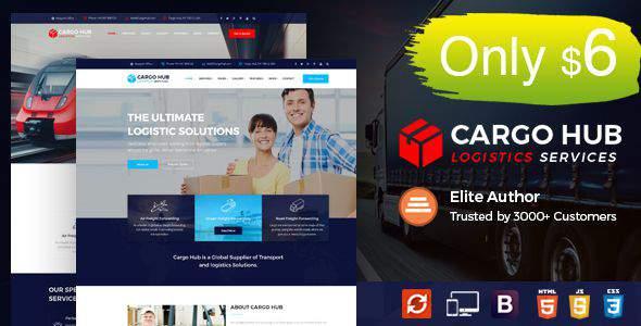 Cargo HUB - Transport HTML Template for Transportation, Logistics and Shipping Companies            TFx Rodney Wyatt
