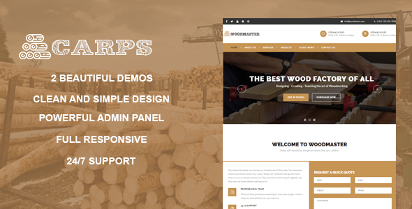 Carps - Wood Carpentry WordPress Theme            TFx Corbin Takuya