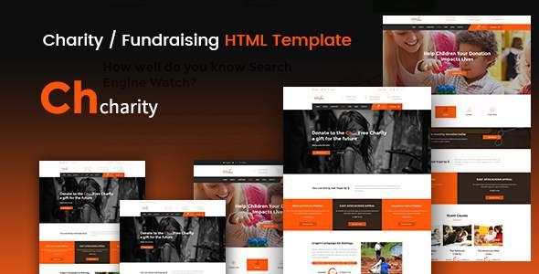 Chcharity - Charity / Fundraising HTML Template            TFx Adi Shiro