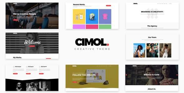 Cimol - Responsive One Page & Multi Page Portfolio Theme            TFx Robert Jirou