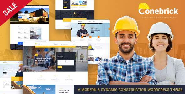 Conebrick – A Masterly WordPress Theme for Construction            TFx Drummond Alpha
