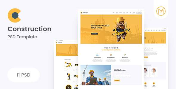 Construction - Clean Construction PSD Template            TFx Willie Angel
