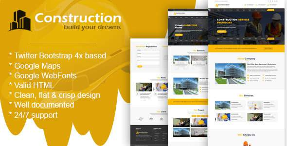 Construction - Construction Template for Architect and Construction            TFx Evelyn Quinton