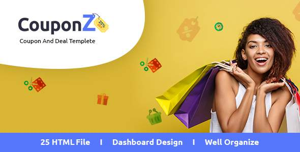 CouponZ - Deals and Coupon HTML Template            TFx Wayland Hall