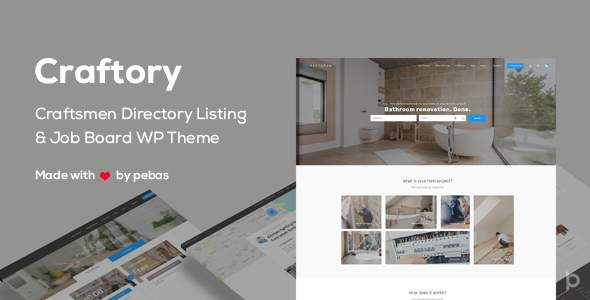 Craftory - Directory Listing Job Board WordPress Theme            TFx Jeff Addison