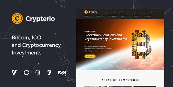 Crypterio - Bitcoin and Cryptocurrency WordPress Theme            TFx Den Nerses