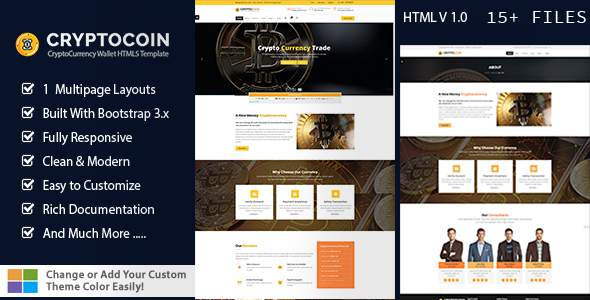 Crypto Coin Wallet HTML5 Template            TFx Shou Junior