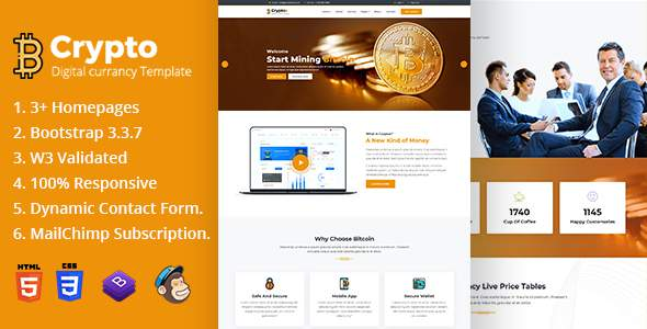 Cryptox – Bitcoin Digital Cryptocurrency Template            TFx Chas Brian