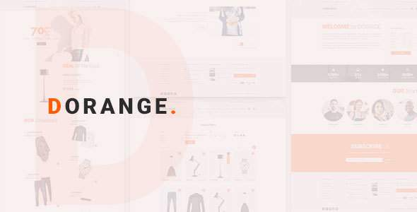 DORANGE Multi Purpose Ecommerce PSD Template            TFx Matty Hayato
