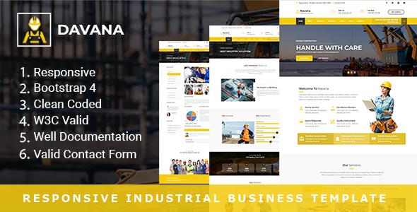 Davana – Responsive Industrial Business HTML Template            TFx Dutch Tony