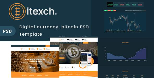 Digital Currency and Bitcoins PSD Template            TFx Farran Luther