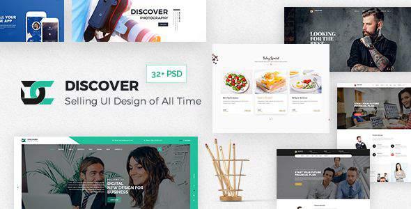 Discover - Creative Multi-Purpose PSD Template            TFx Sydney Erik