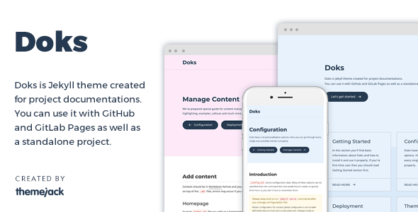 Doks — Jekyll Theme for Project Documentation            TFx Vivian Weston