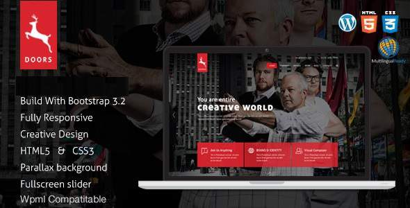 Doors - Onepage Corporate Business Multipurpose Joomla Template            TFx Jerald Moe