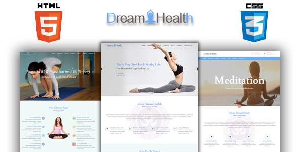 Dreamhealth - Yoga, Spa and Fiteness HTML Template            TFx Ujarak Katashi