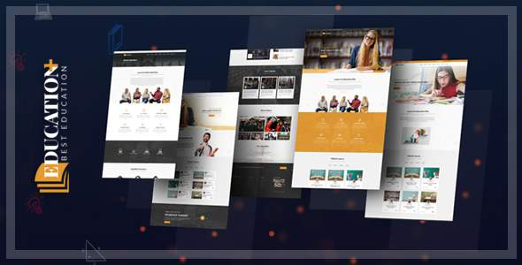 Education Plus - Education, Academy, Courses & Training HTML Template            TFx Selby Deven