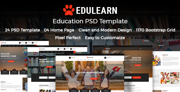 Edulearn Education - Education PSD Template            TFx Derren Talako