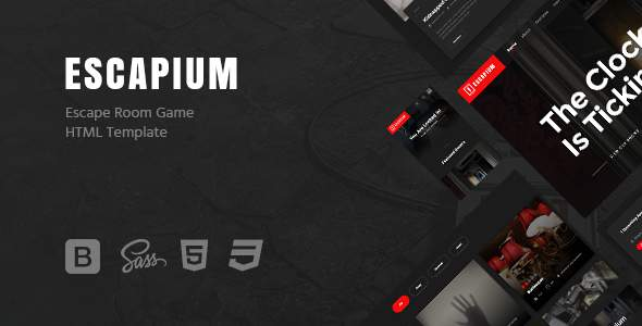 Escapium - Escape Room Game HTML Template            TFx Derren Blaine