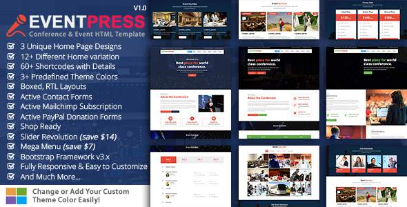 Event Press - Conference & Event HTML5 Template            TFx Vic Gladwin