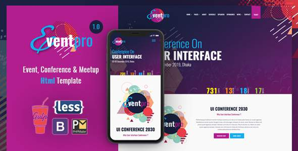 Event Pro - Conference, Event & Meetup HTML Template            TFx Dallas Auberon