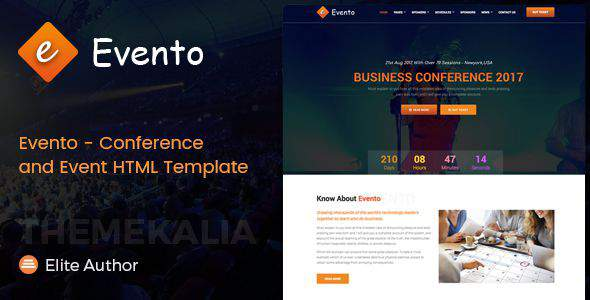 Evento - Conference and Event HTML Template            TFx Nicky Dee