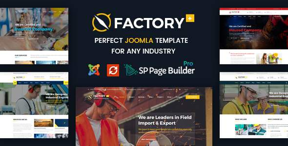 Factory Plus – Industry / Factory / Engineering and Construction Business Joomla Template            TFx Gerald Jack