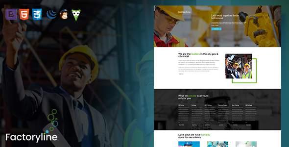 Factoryline - Factory & Industrial Business HTML Template            TFx Wolf Tasunka