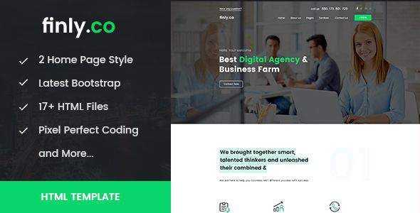 Finly.co - Business & Digital Agency HTML Template            TFx Kevork Humbert