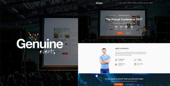 Geinuine - Conference and Event PSD Landing Page            TFx Alphege Collin