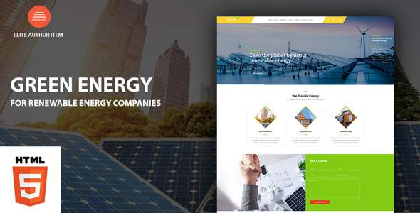 Green Energy - For Renewable Energy Company HTML Template            TFx Codie Roddy