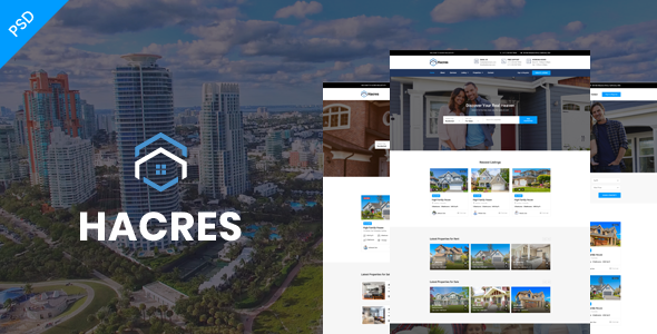 Hacres-Real Estate Psd Template            TFx Selby Manny