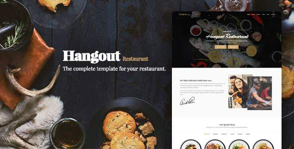 Hangout – HTML5 Restaurant Template            TFx Jerrard Tirto