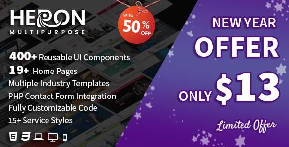 Heron - Multipurpose HTML Website Templates            TFx Haywood Malcom
