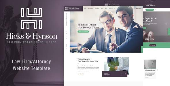 Hicks & Hynson - Law Firm HTML Template            TFx Tyson Dashiell