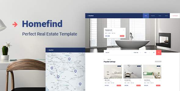 HomeFind - Real Estate Responsive HTML5 Template            TFx Harta Warner