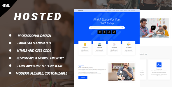 Hosted – Hosting HTML Template            TFx Dre Waldo