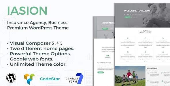 Iasion | Insurance Agency WordPress Theme            TFx Perce Thomas